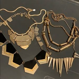 EXPRESS necklaces gold set of 4